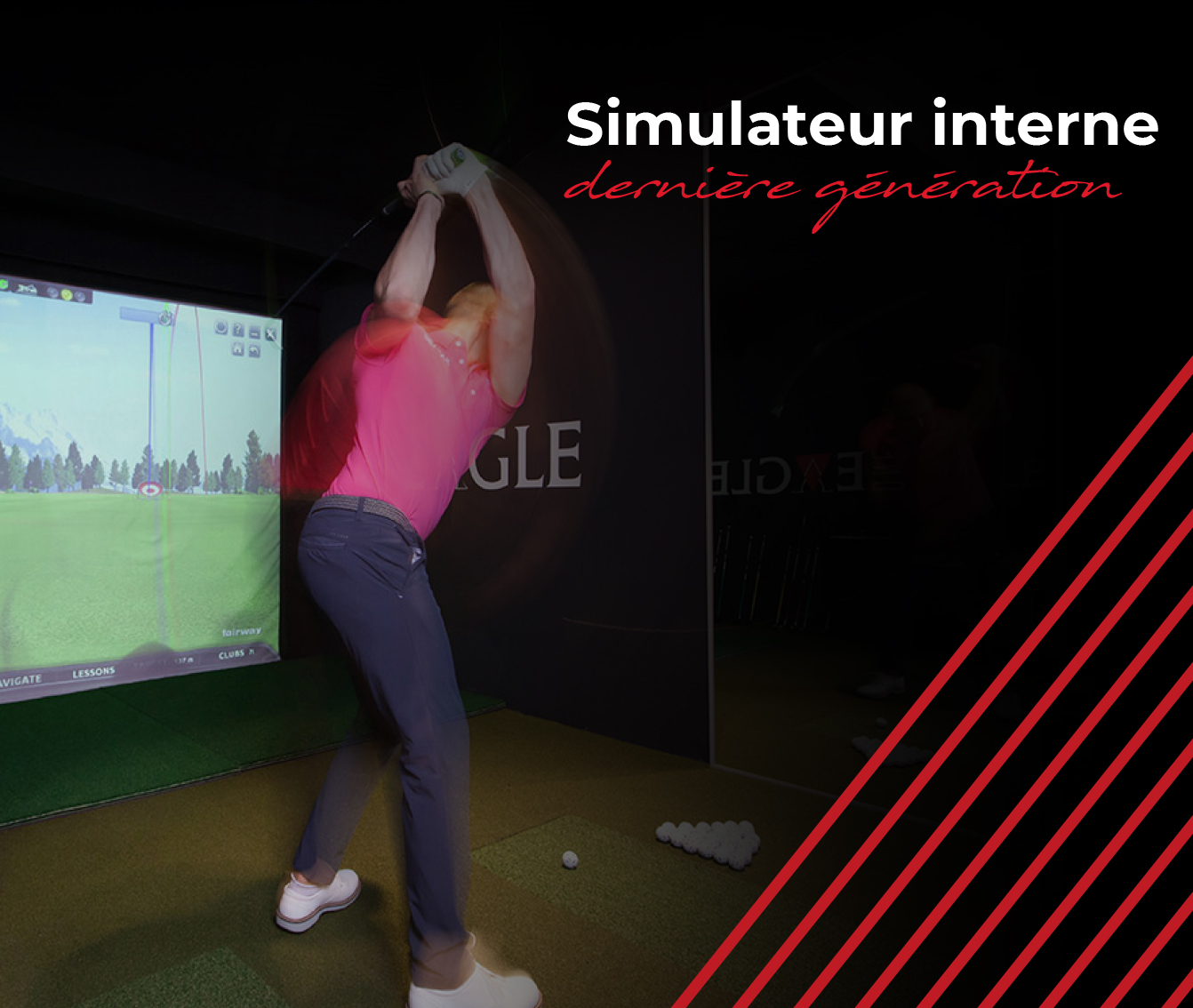 Simulateur golf indoor